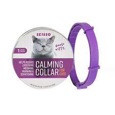 Seisso Calming Collar for Cats Reduce Excessive Meowing Marking Scratching