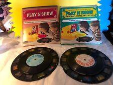 Vintage Kenner's Play N Show Phono Projector Records Flintstones Mr Magoo W box