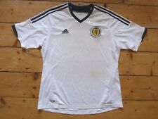 DIMENSIONS:XL Écosse Maillot de Foot 2014 Blanc Suite Adidas Football Tartan