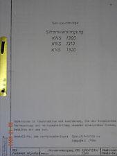 KNS1300 Stromversorgung , Serviceunterlage, RFT / Funkwerk Köpenick