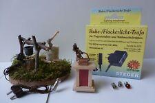 Beleuchtung Set / Ruhe+Flackerlichttrafo+Laterne+Lagerfeuer /Krippenzubehör TS11