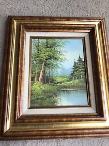 Hand Painted Signed Landscape Painting