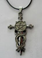 Halskette Pentagramm Necklace Drudenfuß Pentakel Fünfstern magie Esoterik Kreuz