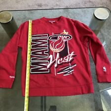 NBA MIAMI HEAT VINTAGE 90'S LOGOS CREW-NECK MITCHELL & NESS ADULT MEDIUM