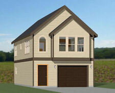 20x40 House -- 1 Bedroom 1.5 Bath -- 1,077 sq ft -- PDF Floor Plan -- Model 8E