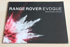 99408) Range Rover Evoque-prices & Extras-Prospectus 01/2012