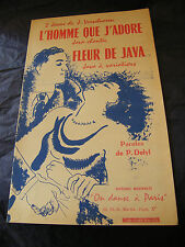 Partitur l'homme que J'Adore fleur de Java Verscheren music -blatt 1956