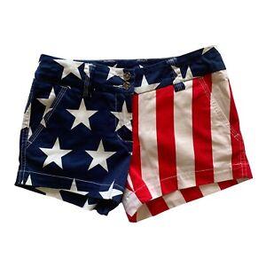 Loudmouth Golf Ladies Size 0  Stars & Stripes Mini Short Red White Blue USA