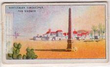 Babylonian Gnomen Sun Dial Timekeeper Clock Time Shadow 1920s Ad Trade Card