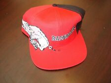ARKANSAS RAZORBACKS  big logo SCRIPT NEW VINTAGE 90'S HAT CAP  SNAPBACK