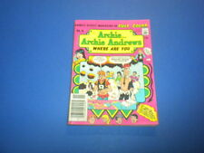 ARCHIE ANDREWS WHERE ARE YOU? COMICS DIGEST #16 Full Color 1980 Betty & Veronica