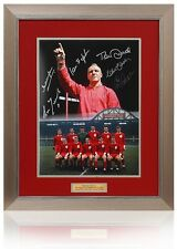 "Bill Shankly 16x12"" Tribute montage hand signed by 7 Photo AFTAL Photo Proof COA"