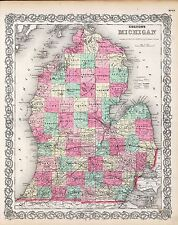 Michigan state 234 maps Panoramic old genealogy lots History atlas Dvd