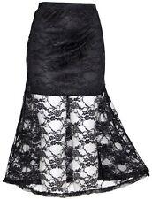 S BLK BOHEMIAN BOHO GOTHIC Gypsy EMO Hippie Lolita Tribal Renaissance LACE Skirt