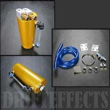 750ml Univseral Aluminum Turbo Oil Catch Can Tank Reservoir Performance Gold JDM