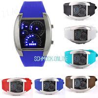 LED Watch LCD Silikon Armband Uhr Herrenuhr Damenuhr Digital Quarz Sportuhr Uhr