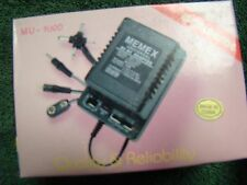 Universal AC/DC Adaptor MU-1000 1000mA 1.5-3-4.5 6-7.5-9-12V By Memex