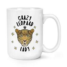PAZZO leopardo donna 426ml Possente Tazza - divertente animale grandi