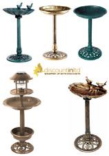 Ornamental Bird Bath Table Garden Feeder Food Feeding Station Free Stand Feature