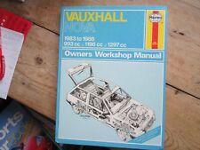 VAUXHALL NOVA 1983 TO 1986 993cc 1196cc 1297cc   HAYNES MANUAL