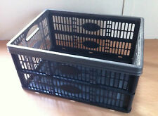 32L Folding Fold Down Storage Crate Basket Strong 470 x 350 x 230mm Great Value!
