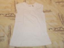 T-Shirt , Fille , Manches C , Blanc , 6  ANS, Marque OKAIDI, Excellent état