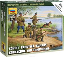 ZVEZDA 6144 SOVIET FRONTIER GUARDS 1941 WWII SCALE MODEL KIT 1/72 NEW