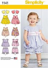 Simplicity SEWING PATTERN 1141 Babies Dress/Jumper,Top, Pantaloons,Bolero 0-18m
