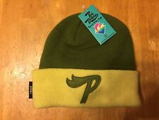 Pink Dolphin 100% Acrylic Beanie Hat - Yellow Olive - Adult One Size Fits All