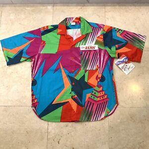 Jams World Original VIntage 80's NEW WITH TAG Button-down Shirt RARE Loud