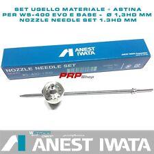 Set Ugello Materiale + Astina per Anest Iwata WS-400 - nozzle needle set 1.3HDmm