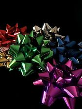 Large 6 Gift Wrapping Metallic Ribbon Bow Birthday Party Bows 20cm