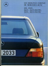 (113B) CATALOGUE MERCEDES BENZ 200 230E 260E 4MATIC 300E 4MATIC