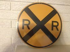 "Railroad Crossing Crossbuck Logo Heavy Steel Sign 14"" New.  DL"