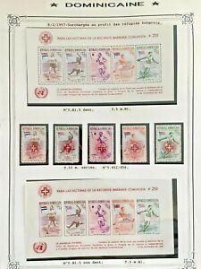 1957 SHEET + SET OLYMPIC DOMINICAN REPUBLIC VF MNH B698.14 START 0.99$