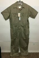 Walls Mens Twill Non-Insulated Short Sleeve Coveralls Color Khaki 61002 - NWT