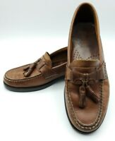 Bass Mens Size 8M Bennett Brown Leather Tassel Loafers Casual Slip On Shoes GUC