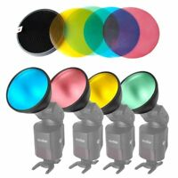 Godox AD-S11 Color Filter Gel with Grid Cover Kit for AD200 AD360 II Flash