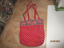 Purse Vera Bradley  Daisies and Paisley Tote Handbag 13 In. tall