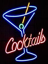 Cocktails Neon Print, Retro Metal Sign, Pub, Bar, Man Cave