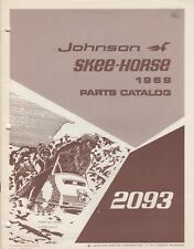 1969 JOHNSON SKEE-HORSE SNOWMOBILE 2093 PARTS MANUAL P/N 260993 (635)