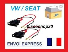 Seat Leon MK1 99 - 06 Speaker Adaptor Plug Leads Cable Connectors Pair