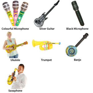 INFLATABLE MUSICAL INSTRUMENTS FESTIVAL PARTY ACCESSORIES - CHOOSE YOUR DESIGN
