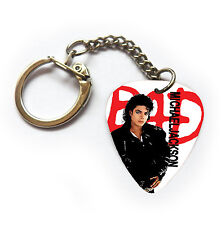 MICHAEL JACKSON BAD Guitar pick plectrum pick king of pop KEYCHAIN RING