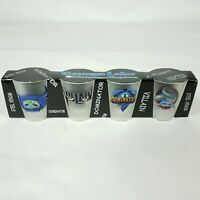 Geauga Lake Amusement Park Rollercoaster Specs Frosted Shot Glass New Aurora Oh