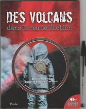Des Volcans dans le feu de l'action - Livre + CD intéractif - Jeunesse