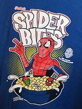 Rare Vintage Parker's Spider Bites Cereal  Mens 3XL T Shirt Spiderman Marvel