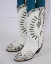 El Vaquero Women's Western Boots Size 36 Italy Colorful Jeweled Cowgirl 7 US