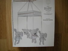 NEXT LITTLE BEAR BUDDY BABY Nursery Cot musical MOBILE GOES bed in bag curtains