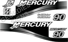 GREY MERCURY 90 OUTBOARD FOUR STROKE MOTOR STICKERS DECAL KIT ENGINE